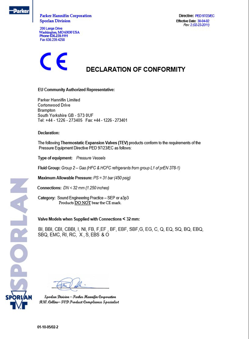 thermostatic, expansion, supplier, certificate